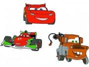 Pěnové figurky Cars D23670, 3 ks Dekorace Cars