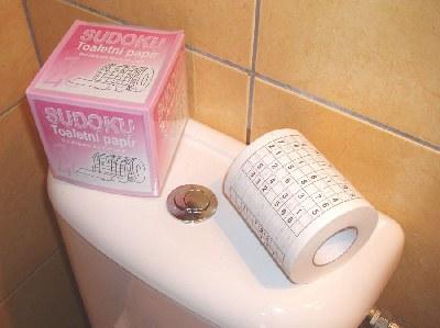 Toaletní papír Sudoku - Toaletní papír dárkový