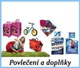 Dětské cestovní kufry, hračky a doplňky