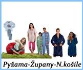 Dětské pyžama, pánské pyžama, dámské pyžama