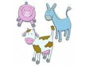 Pěnové figurky Farma D25602, 3 ks Dekorace Farma
