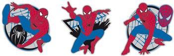 Pěnové figurky spiderman D23668, 3 ks   Dekorace do dětských pokojů Dekorace Spiderman