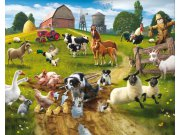 Fototapeta 3D Farma Walltastic 41806, rozměry 305 x 244 cm Fototapety skladem