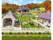 Fototapeta 3D Stáje pro Koně Walltastic 40113, 305 x 244 cm Fototapety pro děti - Rozměr 244 x 305 cm