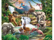 Fototapeta 3D Jungle Walltastic 41776, 305 x 244 cm Fototapety skladem