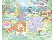 Fototapeta 3D Baby džungle Walltastic 40595, 305 x 244 cm Fototapety pro děti - Rozměr 244 x 305 cm