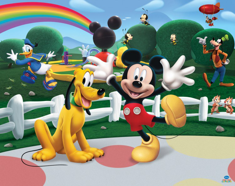 Dětská papírová 3D fototapeta Mickey Mouse Walltastic 41349, rozměry 305 x 244 cm | Fototapety pro děti Rozměr 244 x 305 cm