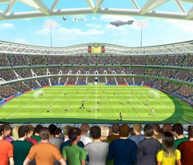 Fototapeta 12 dílná 3D fotbal | Fototapety - FOTOTAPETY PRO DĚTI