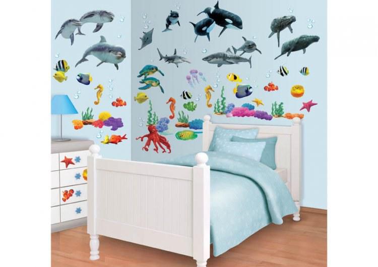 Samolepicí dekorace Walltastic Moře 41097, 108 ks | Dekorace do dětských pokojů Nálepky pro Děti