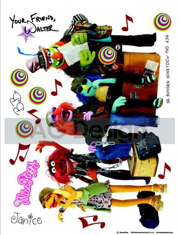 Maxi nálepka Muppets AG Design DK-1704, rozměry 85 x 65 cm - Dekorace Muppets
