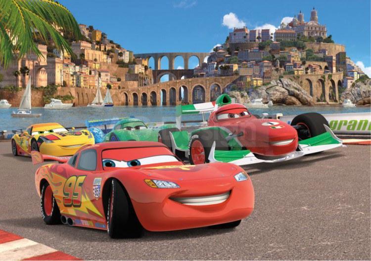 Fototapeta do dětského pokoje Cars Fototapety pro děti - Rozměr 360 x 254 cm