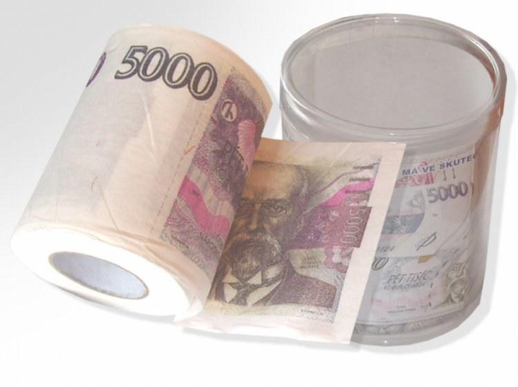 Toaletní papír 5000 Kč - Toaletní papír dárkový