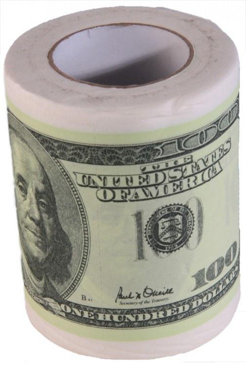 Toaletní papír Dolary 100 - Toaletní papír dárkový