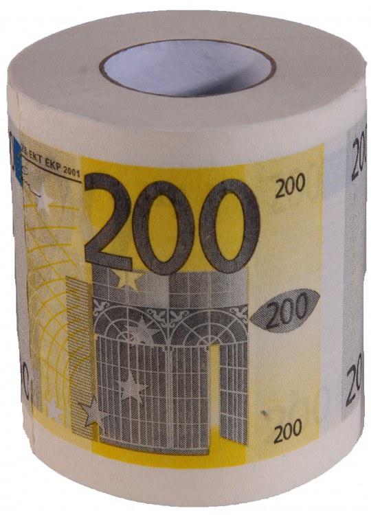 Toaletní papír 200 Euro - Toaletní papír dárkový