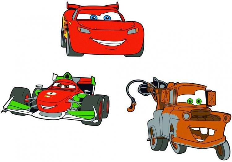 Pěnové figurky Cars D23670, 3 ks - Dekorace Cars