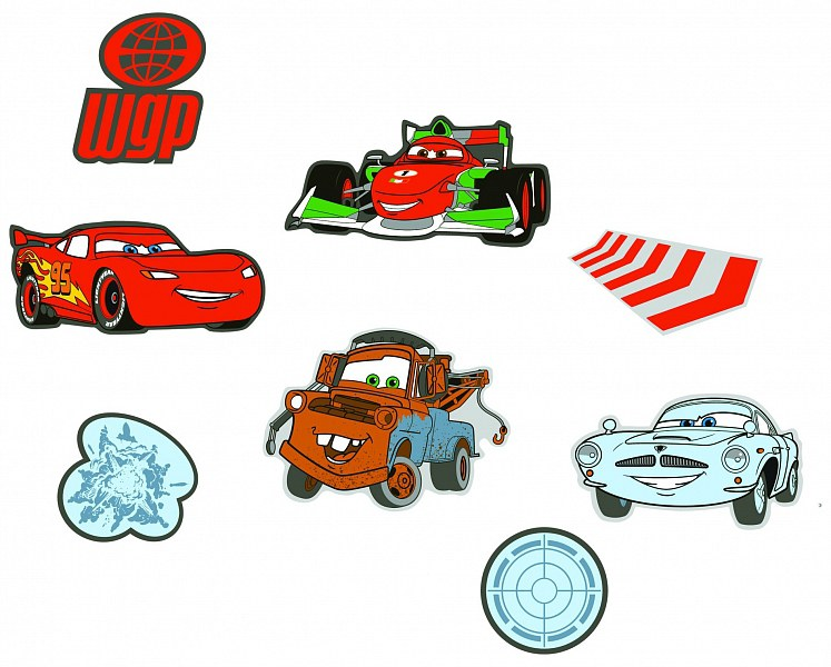 Mini pěnové figurky Cars D23863, 24 ks