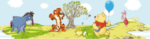 Samolepicí bordura Medvídek Pú a kamarádi D42424 | Dekorace do dětských pokojů Dekorace Medvídek Pú