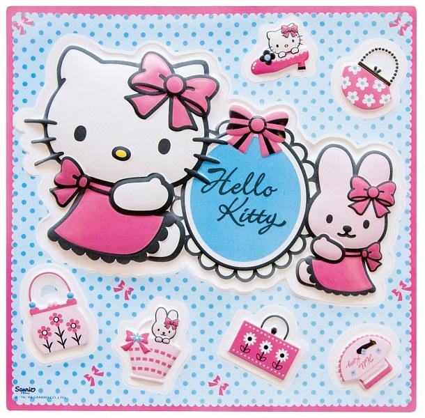 3D dekorace Hello Kitty D70460, rozměry 29 x 29 cm - Dekorace Hello Kitty