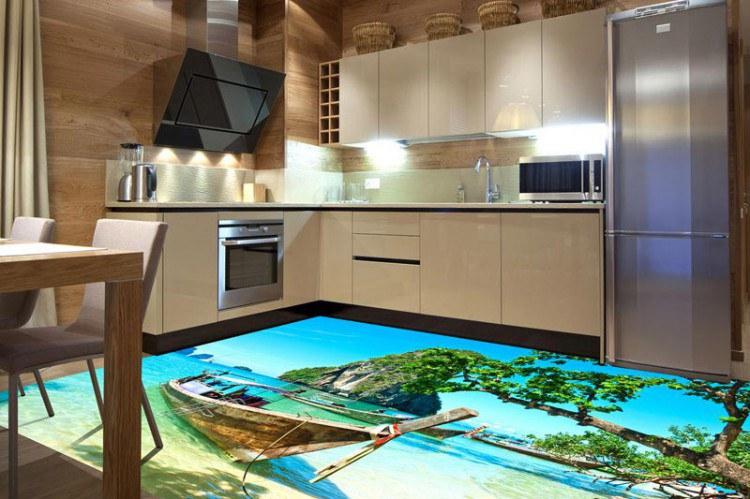 Podlahové obrazové samolepicí fototapety se zesílenou laminací