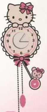 Dekorace Hello Kitty hodiny D70105, rozměry 25 x 70 cm - Dekorace Hello Kitty