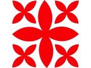 Semišová nástěnná dekorace Kříž 85204, rozměry 13 x 13 cm Výprodej
