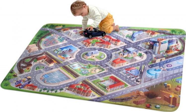 Dětský koberec Ultra Soft Letiště 88001 | rozměry 70 x 100 cm | Dětské koberce Koberce Hrací