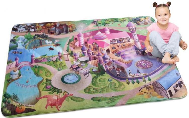 Dětský koberec Ultra Soft Zámek 88009 | rozměry 70 x 100 cm | Dětské koberce Koberce Hrací