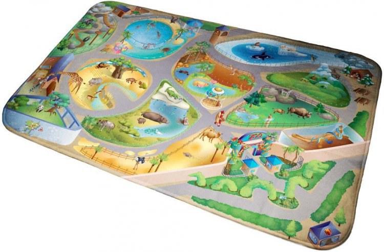 Dětský koberec Ultra Soft Zoo 86027, 130 x 180 cm - Dětské koberce
