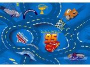 Dětský koberec Cars Racing modrý kruh, průměr 200 cm Koberce na hraní