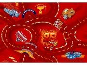 Dětský koberec Cars Racing červený kruh, průměr 160 cm Koberce na hraní