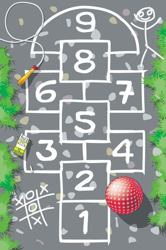Dětský koberec skákací panák, rozměry 100 x 150 cm | Dětské koberce Koberce Hrací