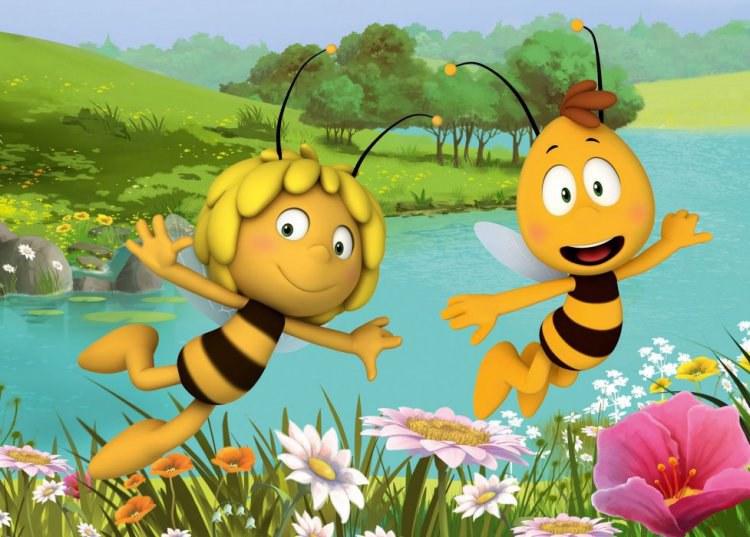 Dětský koberec Včelka Mája a Vilík VM03, rozměry 95 x 133 cm   Dětské koberce Koberce Včelka Mája