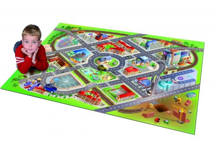 Dětský koberec Letiště 3D, rozměry 100 x 150 cm - Dětské koberce