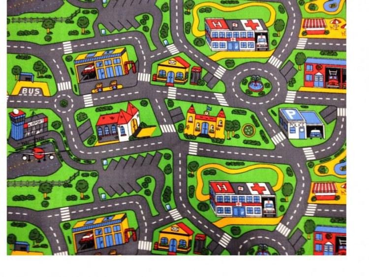Koberec do dětského pokoje City Life 200, rozměry 200 x 200 cm | Dětské koberce Koberce Hrací smyčka