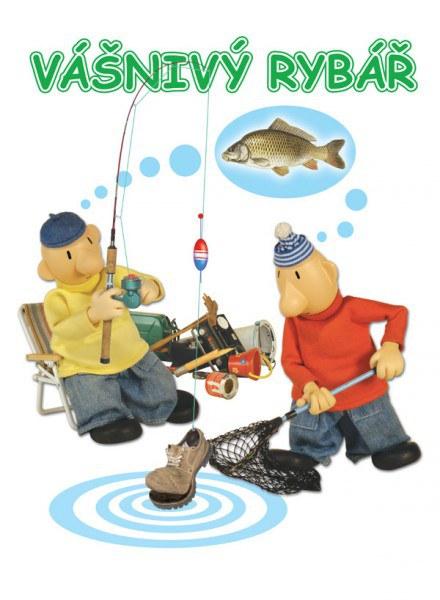 Blahopřání Pat a Mat Rybář | Dárkové předměty Blahopřání Pat a Mat