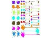 Samolepky na zeď květiny 3500014, rozměry 65 x 85 cm Samolepící dekorace na zeď