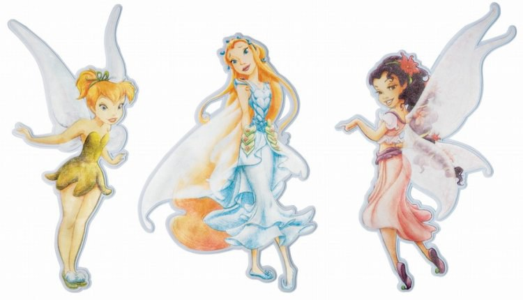 Pěnové figurky Fairies D23652, 3 ks - Dekorace Fairies Víly