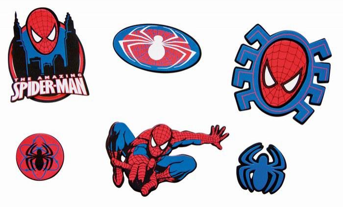Mini pěnové figurky Spiderman D24101, 14 ks   Dekorace do dětských pokojů Dekorace Spiderman