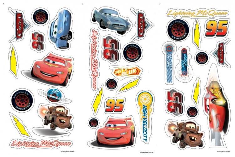 Mini samolepky na zeď Cars D70003, rozměry 17 x 34 cm - Dekorace Cars