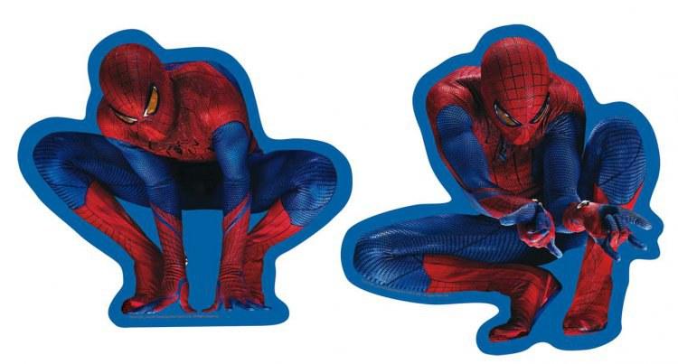 Pěnové figurky Spiderman D70046, 2 ks - Dekorace Spiderman