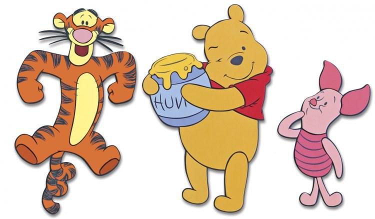 Pěnové figurky Medvídek Pú D23621, 3 ks | Dekorace do dětských pokojů Dekorace Medvídek Pú