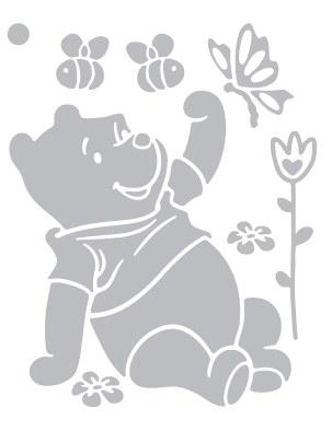 Dekorace Medvídek Pú D45020, rozměry 44 x 54 cm - Dekorace Medvídek Pú