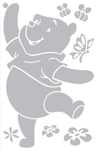 Dekorace Medvídek Pú D45120, rozměry 54 x 88 cm - Dekorace Medvídek Pú