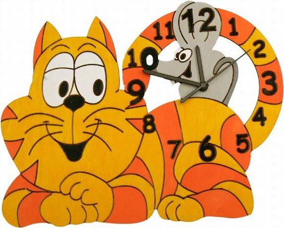 Hodiny Kočka s myškou - Dekorace ostatní
