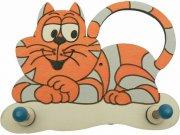 Dřevěný věšáček Kočka 2VLB1, rozměry 20 x 14 cm Dřevěné dekorace pro děti