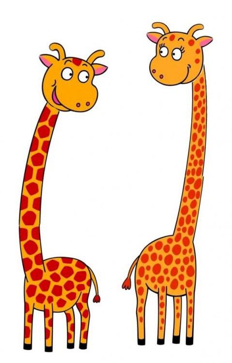 Nálepky pro děti nálepka na zeď pro děti 2 arch žirafy