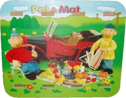 PAT a MAT PĚNOVÉ PUZZLE STOLEČEK   Dětské židle Pat a Mat nábytek