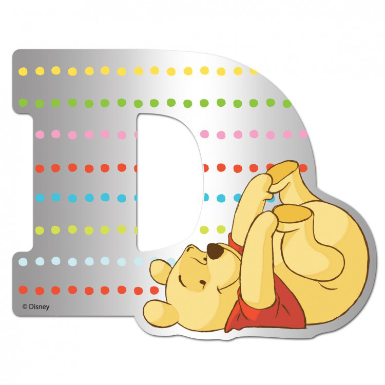 Medvídek Pú zrcátko 004D, rozměry 9 x 7 cm | Dekorace do dětských pokojů Dekorace Medvídek Pú