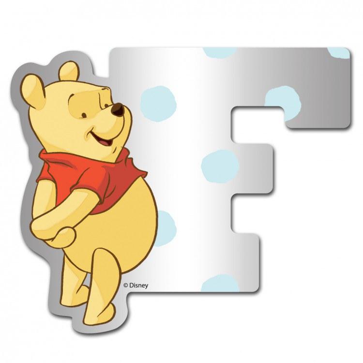 Medvídek Pú zrcátko 006F, rozměry 9 x 7 cm | Dekorace do dětských pokojů Dekorace Medvídek Pú