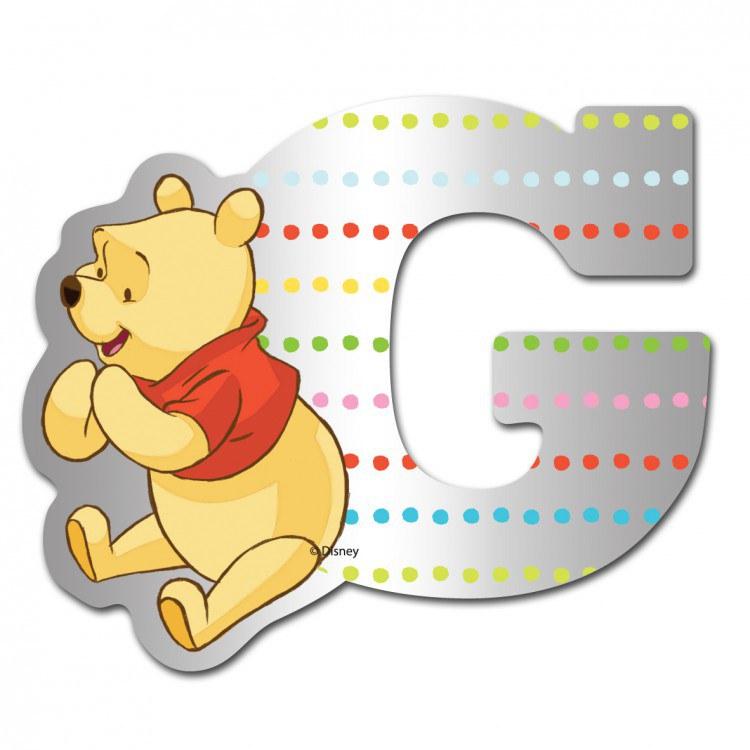 Medvídek Pú zrcátko 007G, rozměry 9 x 7 cm | Dekorace do dětských pokojů Dekorace Medvídek Pú